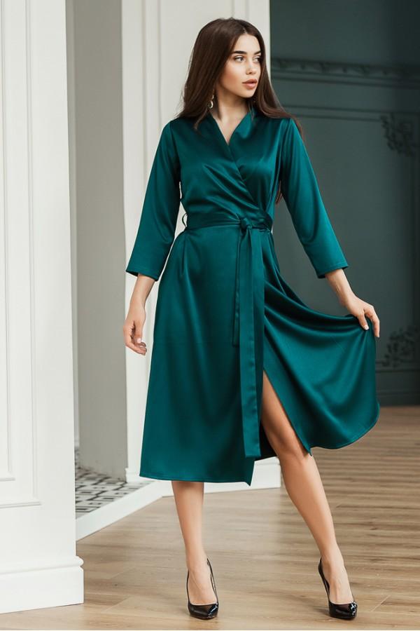 Платье Вечер зеленый