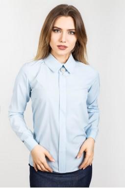 Блуза Брошь голубой