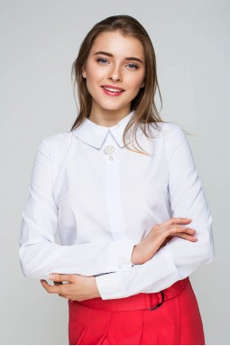 "Блуза ""Брошь"" 00421"