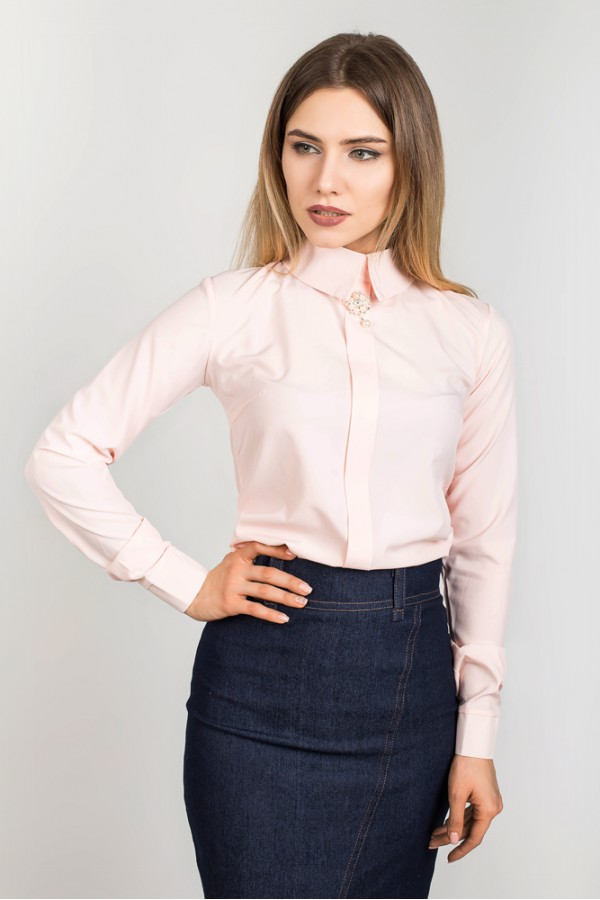 "Блуза ""Брошь"" 00421\1"
