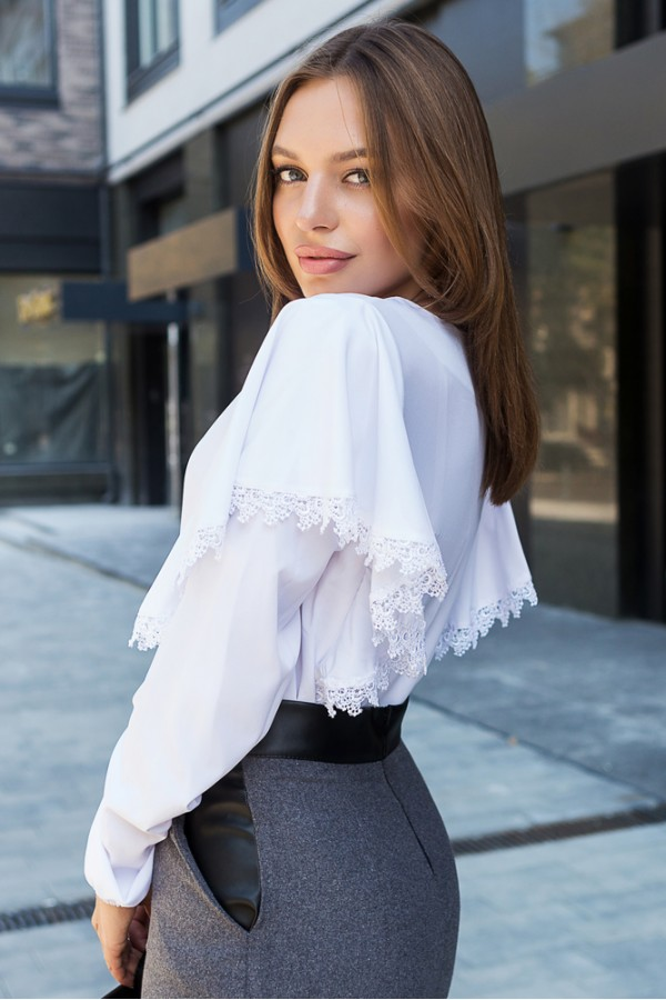 "Блуза ""Иветта"" белый 00574/1"