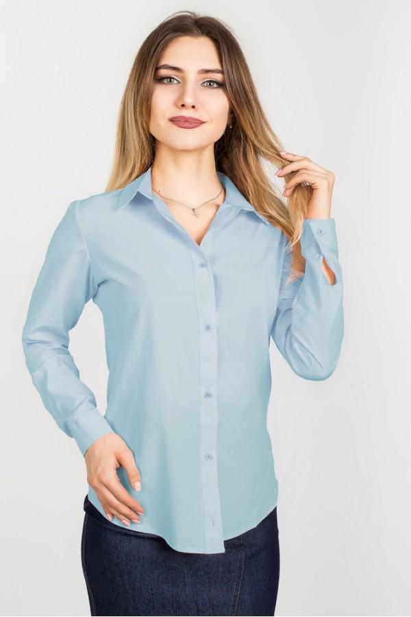 Рубашка Офис голубой