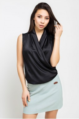 Блуза Шалька черный